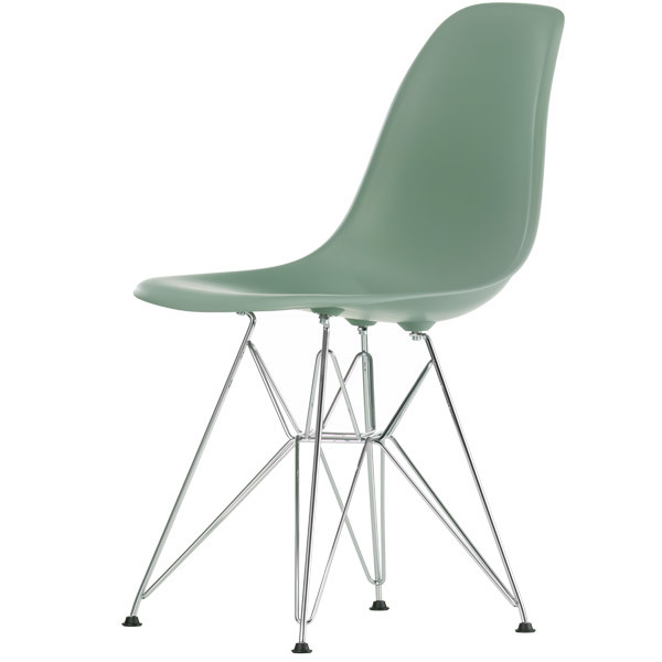 Vitra Eames DSR chair, moss grey - chrome