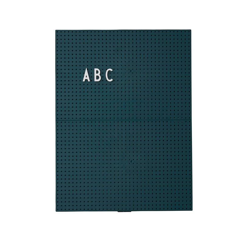 Design Letters Message board A4, dark green