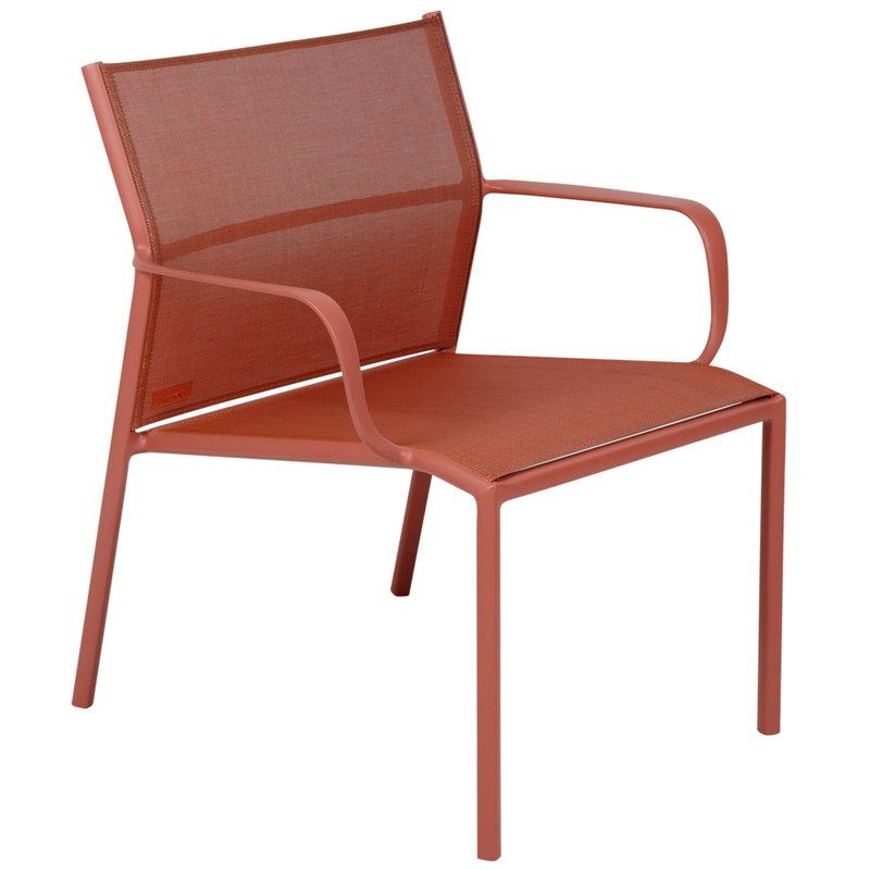 Fermob Cadiz low armchair, red ochre