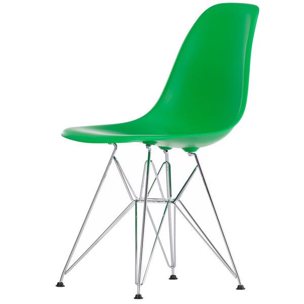 Vitra Eames DSR chair, classic green - chrome