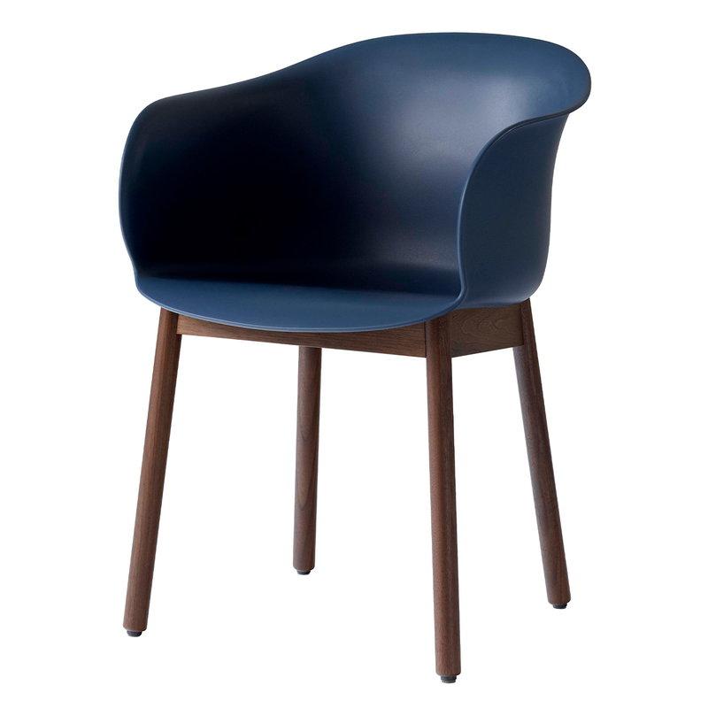 &Tradition Elefy JH30 chair, blue midnight - walnut
