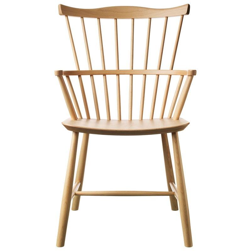 FDB Møbler J52B tuoli, lakattu pyökki
