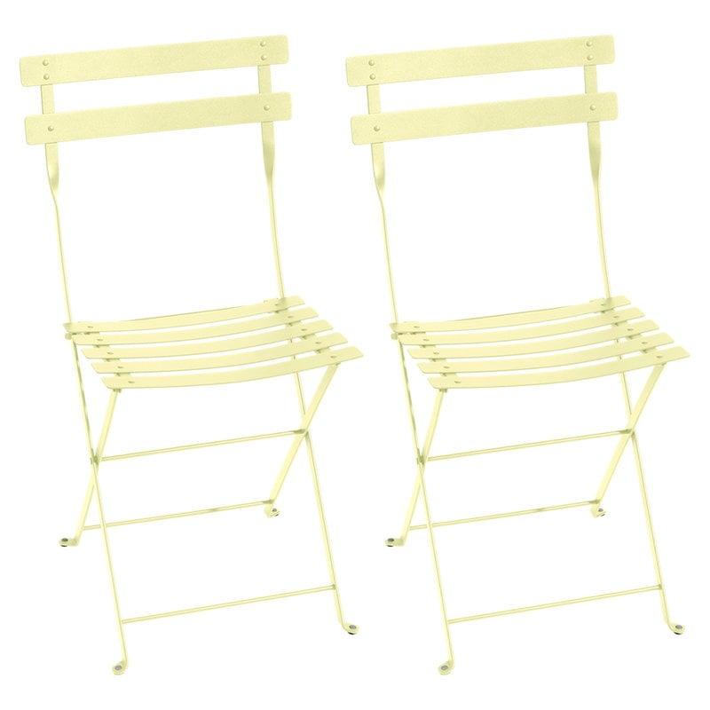 Fermob Bistro Metal tuoli, 2 kpl, frosted lemon