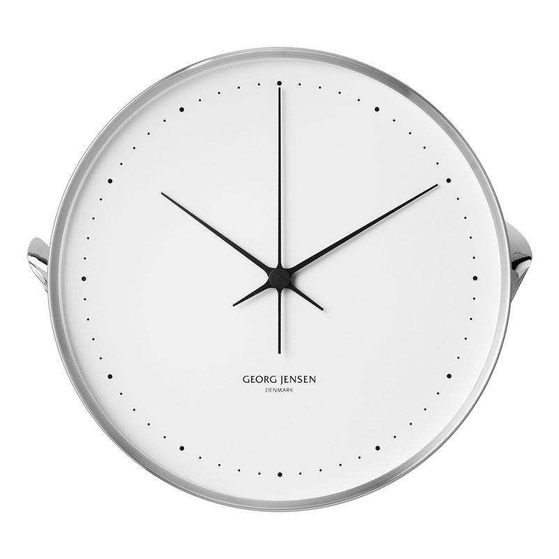 Georg Jensen Henning Koppel wall clock, 40 cm, stainless steel - white