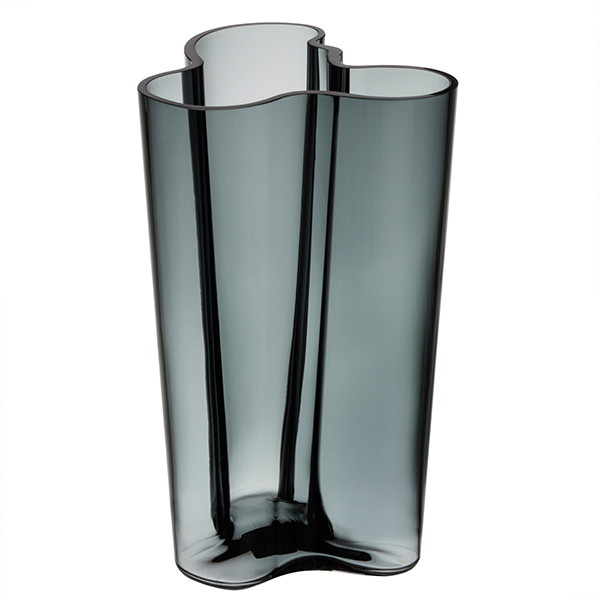 Iittala Aalto Vase 251mm Dark Grey Finnish Design Shop