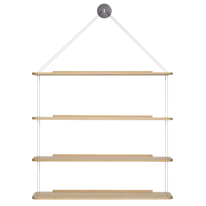 Karakter Libreria Pensile shelf, lacquered oak