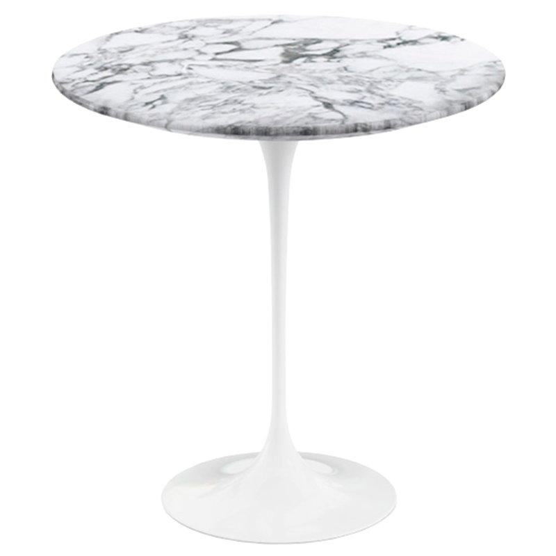 Knoll Tulppaani sivupöytä 51 cm, valkoinen marmori