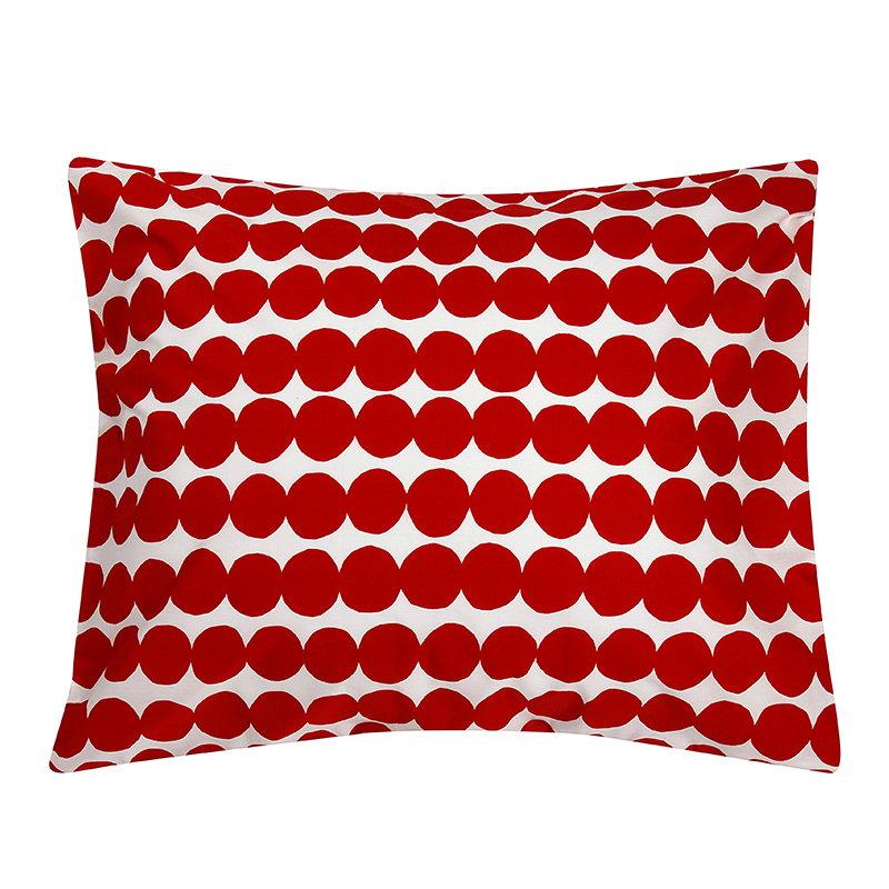 arabia joulu 2018 Marimekko Räsymatto pillowcase, red white | Finnish Design Shop arabia joulu 2018