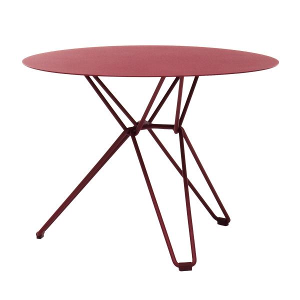 Massproductions Tio pöytä pieni, viininpunainen