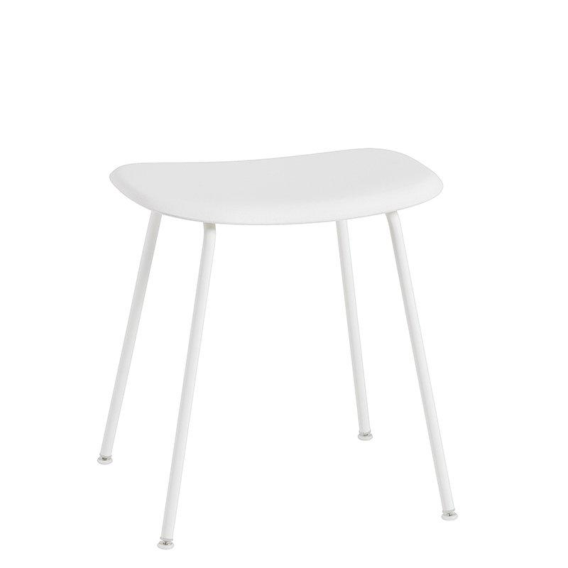 Muuto Fiber stool, tube base, white