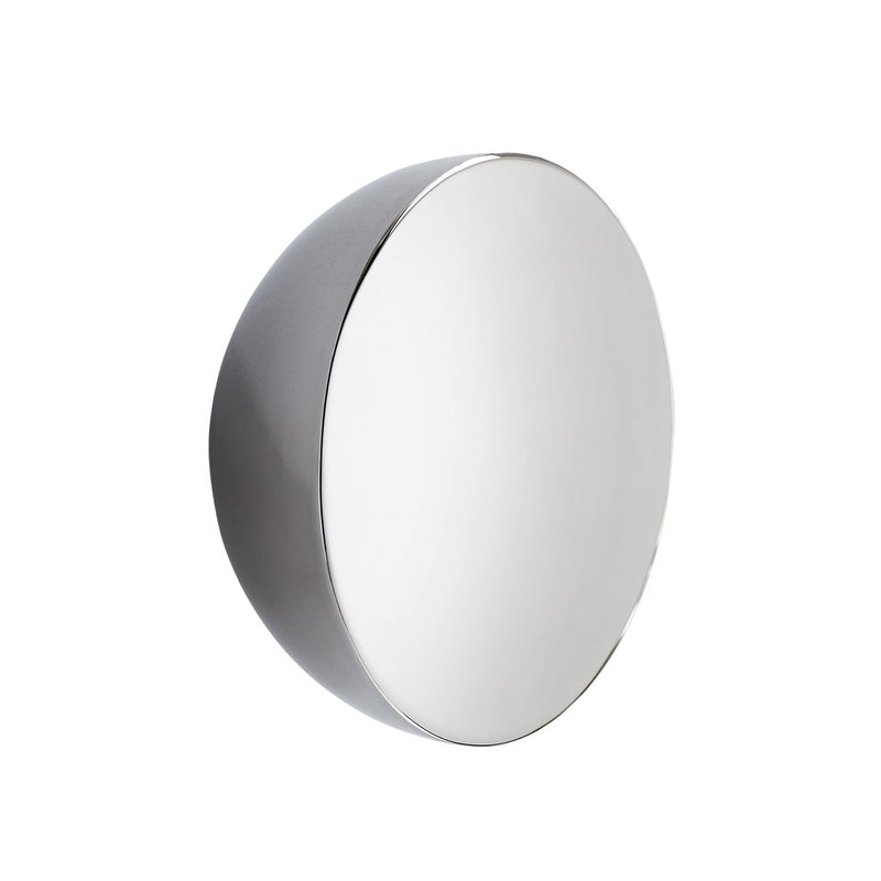 New Works Aura mirror, small, stainless steel