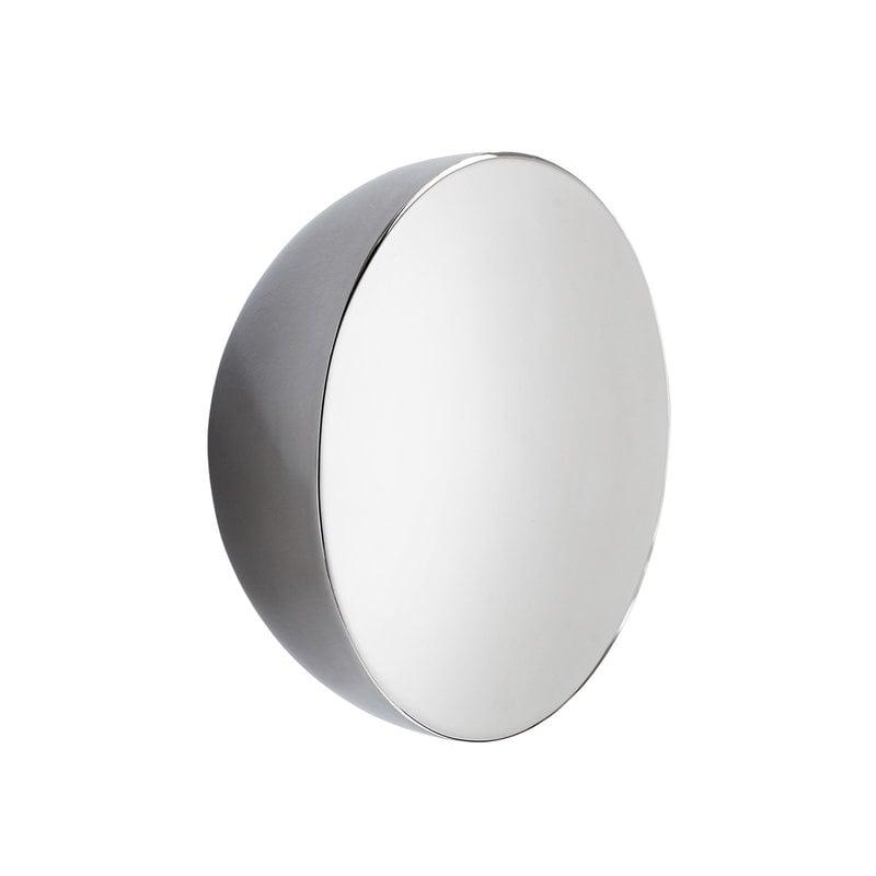 New Works Aura peili, pieni, ruostumaton teräs