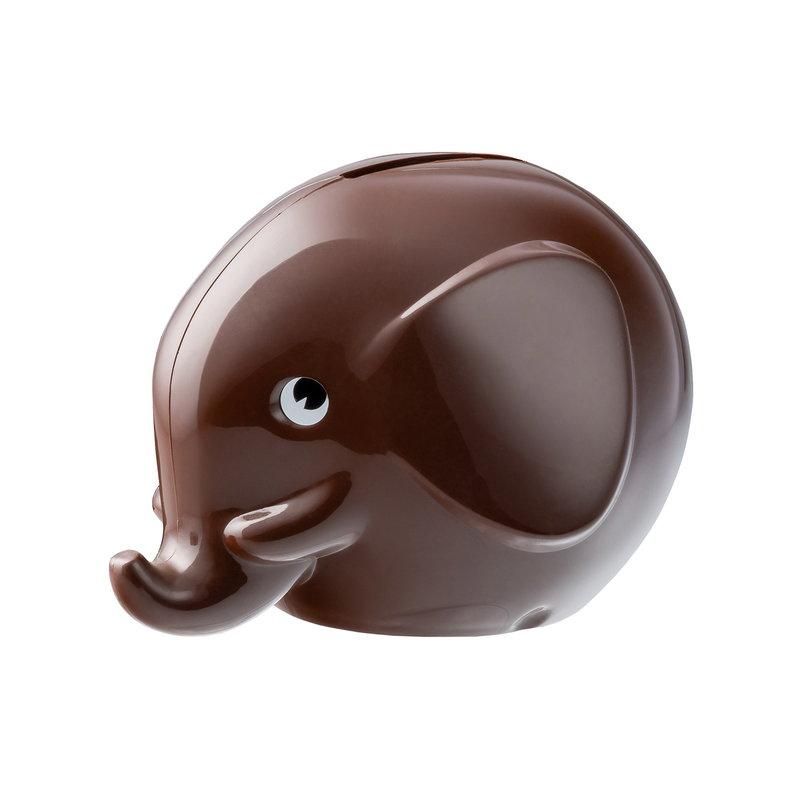 Palaset Salvadanaio Medi Elephant, marrone cioccolato