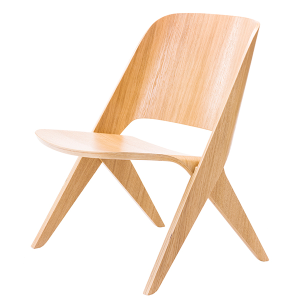 Poiat Lavitta lounge chair, oak