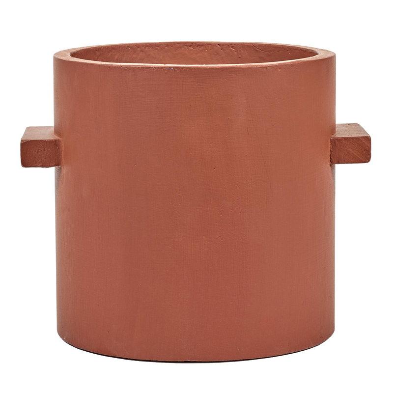 Serax Concrete plant pot 27 cm, red brown