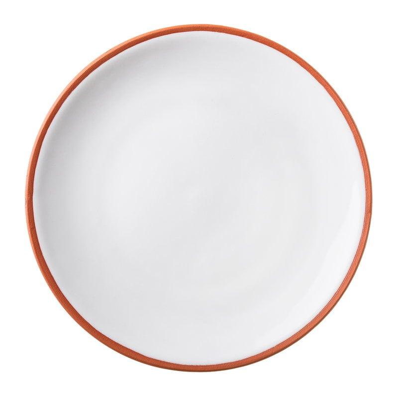 Vaidava Ceramics Earth dinner plate 22 cm, white