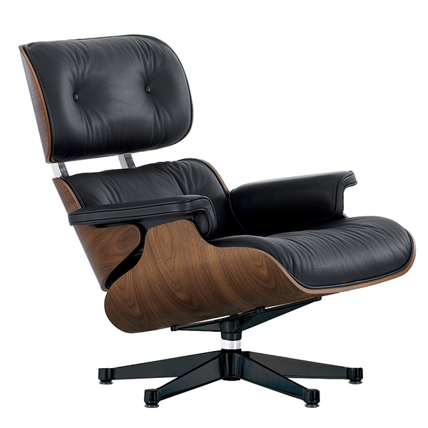 Cool Vitra Eames Lounge Chair New Size Walnut Black Leather Inzonedesignstudio Interior Chair Design Inzonedesignstudiocom
