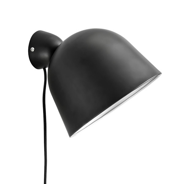 Woud Kuppi wall lamp, black