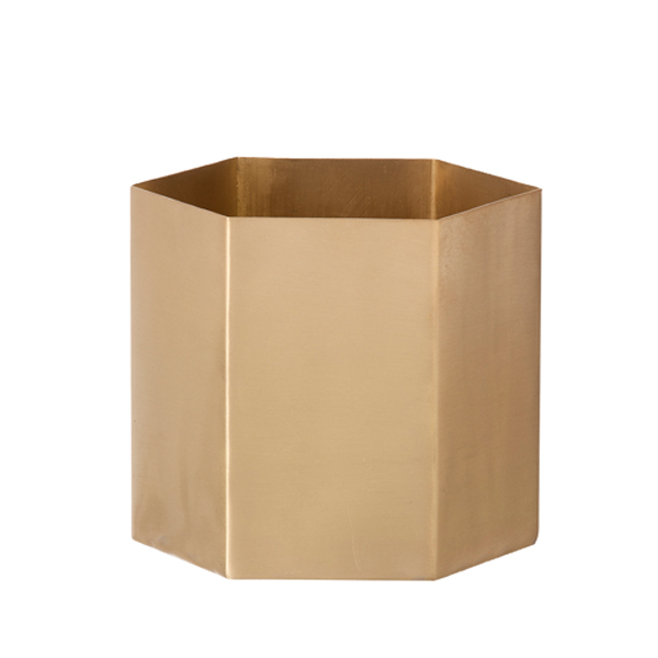 Ferm Living Hexagon pot S, brass