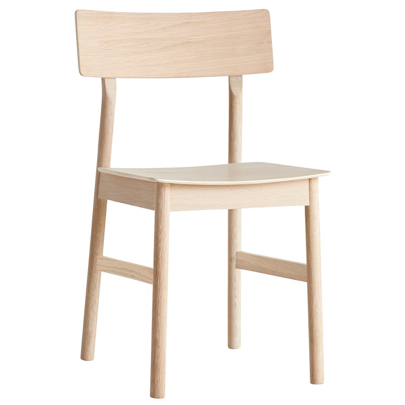 Woud Pause dining chair 2.0, white pigmented oak