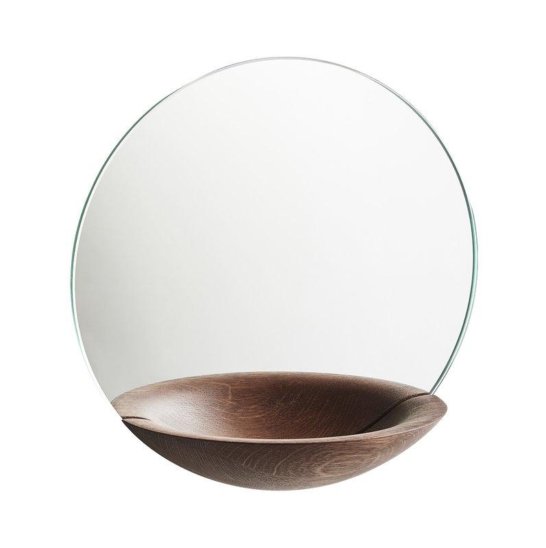 Woud Pocket Mirror peili, pieni, savustettu tammi