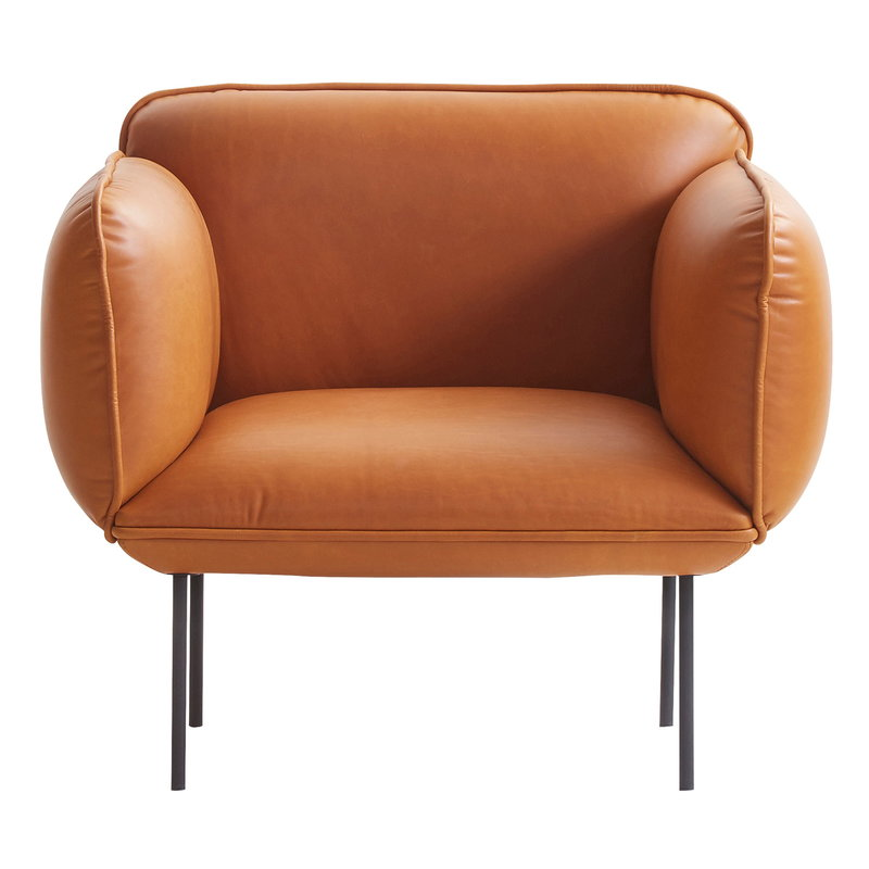 Woud Nakki 1-seater, cognac leather