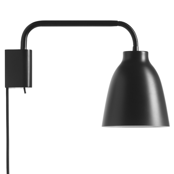 Fritz Hansen Caravaggio Read wall lamp, matt black