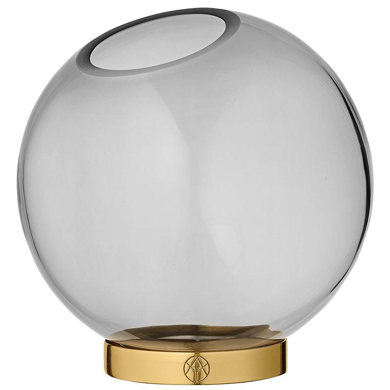 AYTM Globe vase, large, black - gold