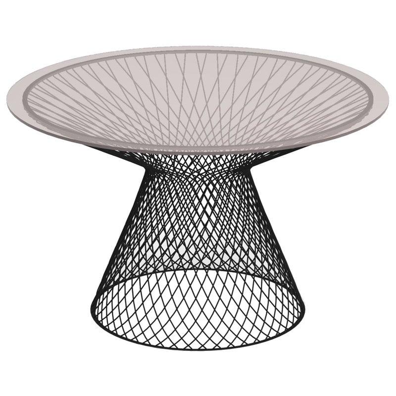 Emu Heaven pöytä 120 cm, musta, lasikansi