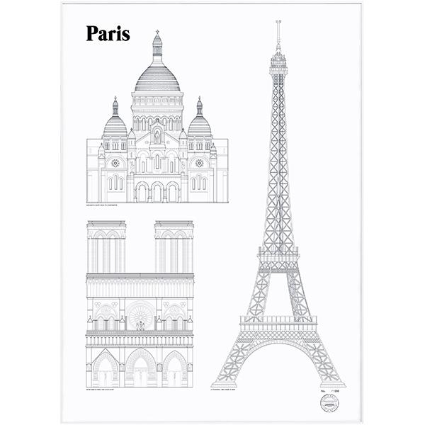 Studio Esinam Paris Landmarks poster