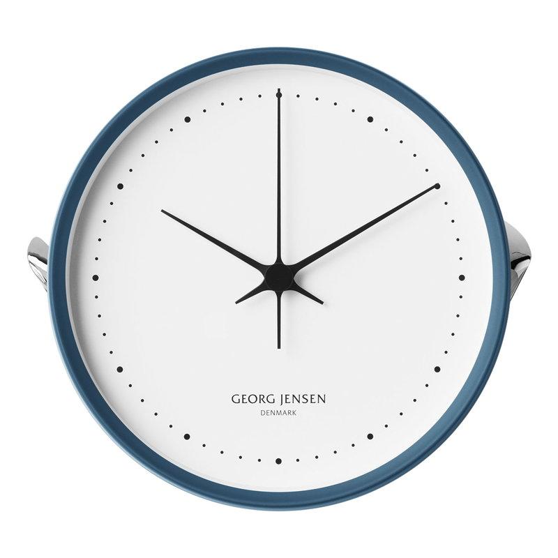 Georg Jensen Henning Koppel wall clock, 22 cm, blue - white