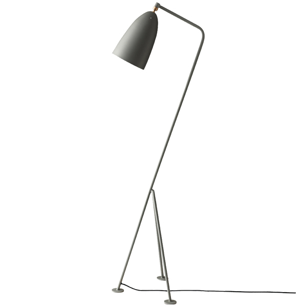 Gubi Gräshoppa floor lamp, blue grey
