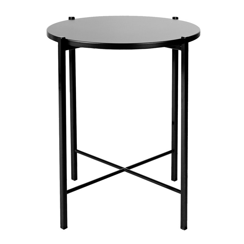 Hakola Round side table 43 cm, black
