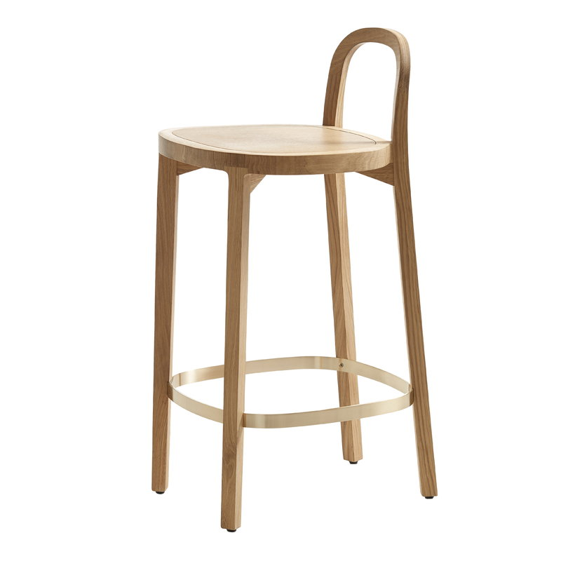 Woodnotes Siro+ bar stool 65 cm, oak