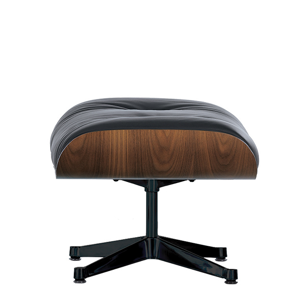 Vitra Eames Lounge Ottoman, walnut - black leather