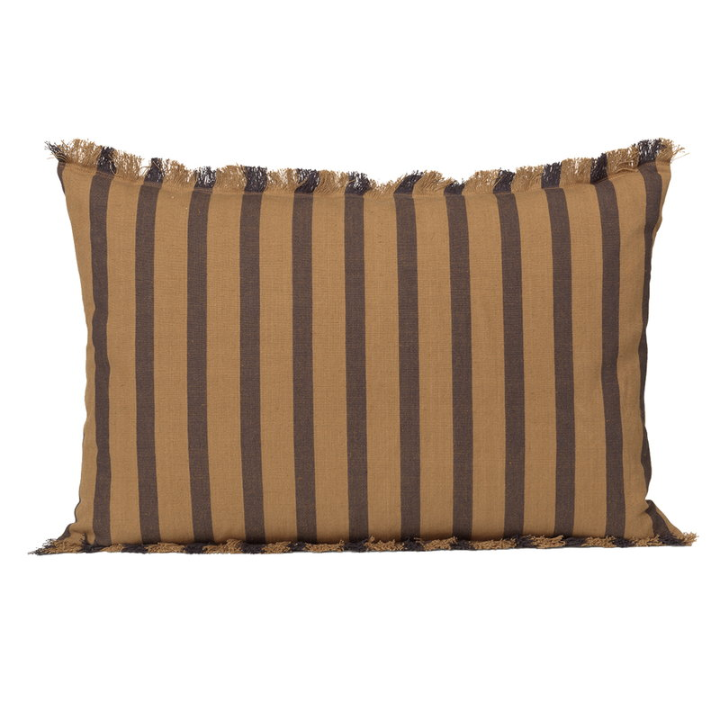 Ferm Living True cushion, sugar kelp - black