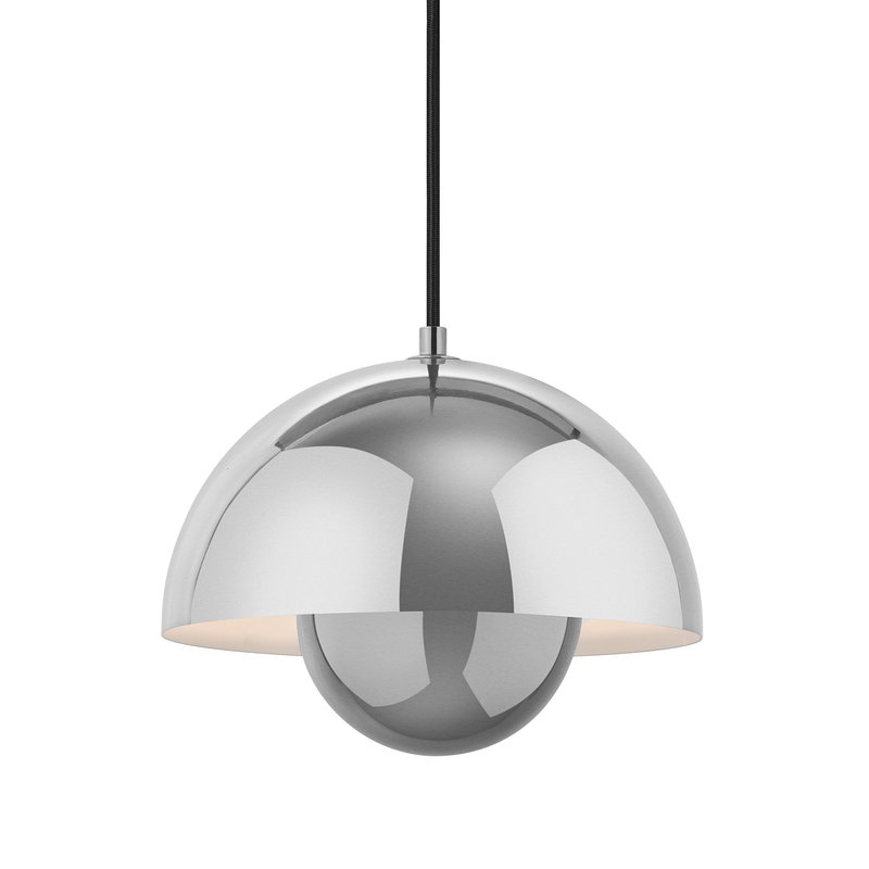 &Tradition FlowerPot VP1 pendant, polished stainless steel