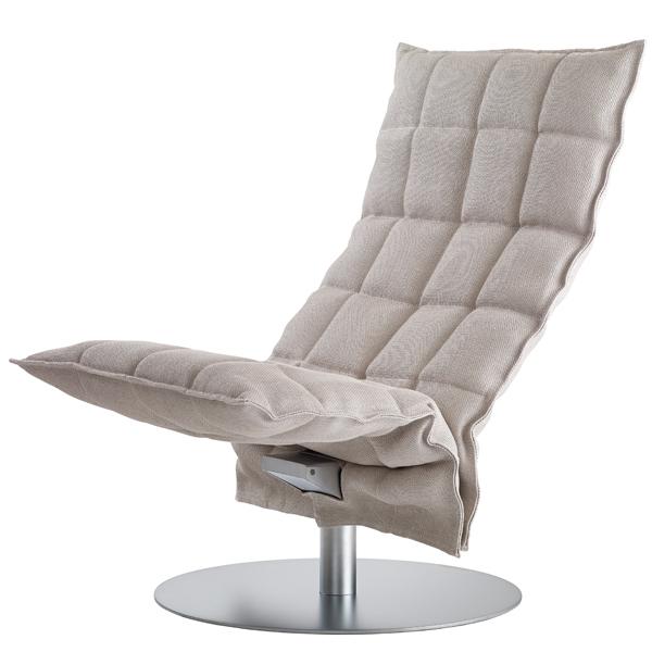 Woodnotes K tuoli, pyörivä, kapea, kitti/valkoinen