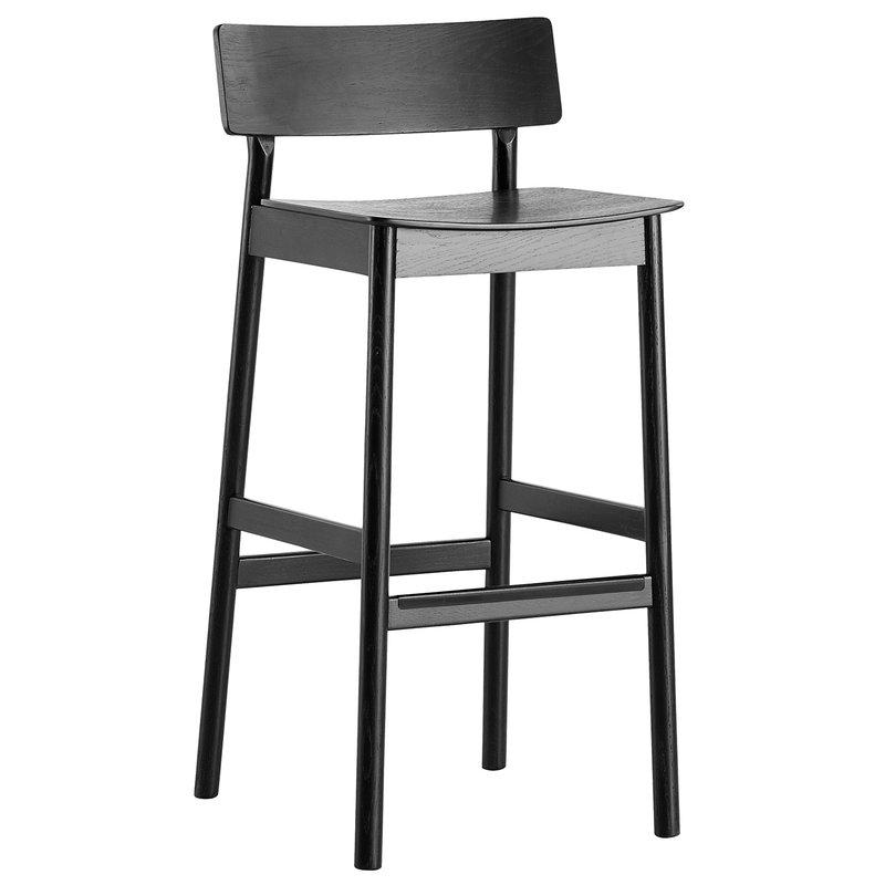 Woud Pause bar stool 2.0, 75 cm, black