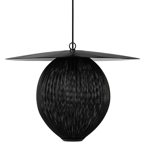 Gubi Satellite pendant, medium, midnight black