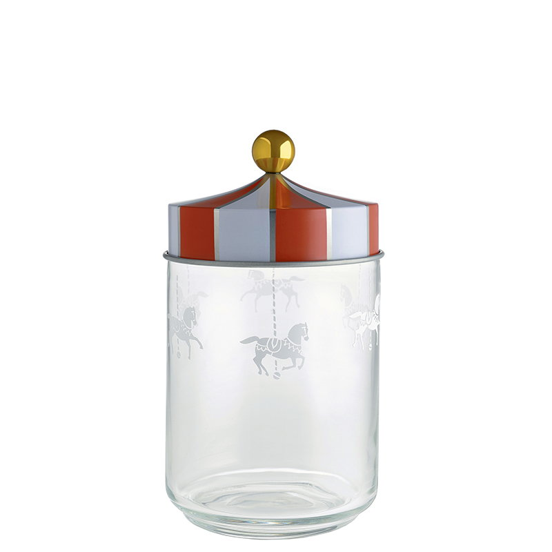 Alessi Circus glass jar, 1 L