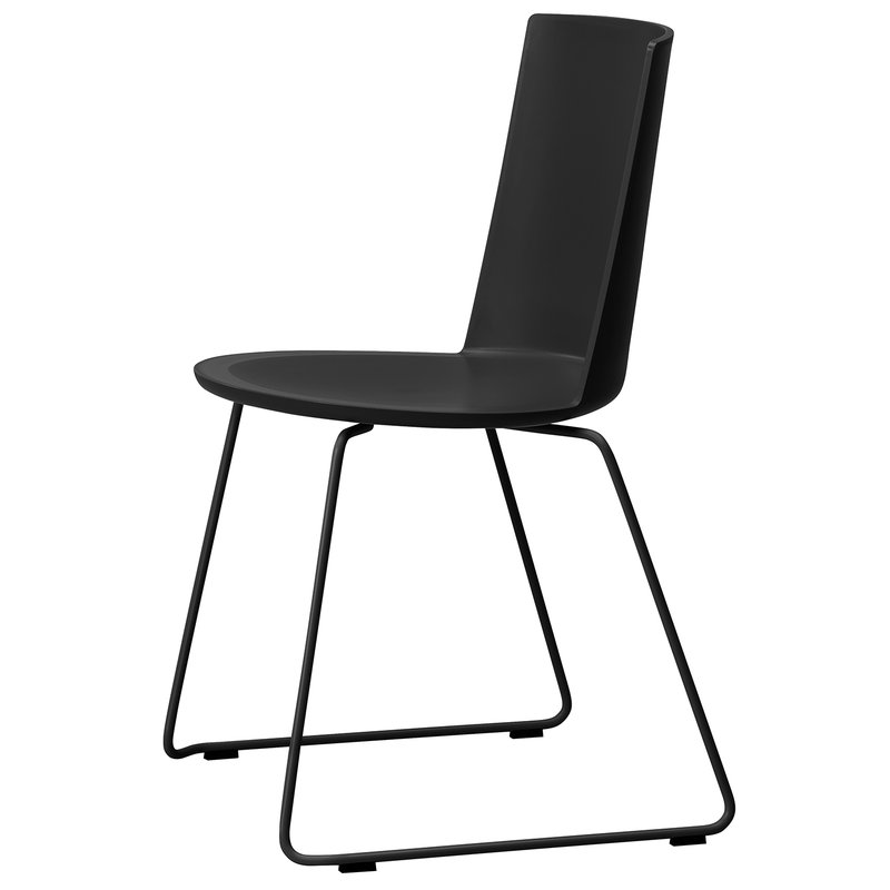Fredericia Acme chair, sled base, black