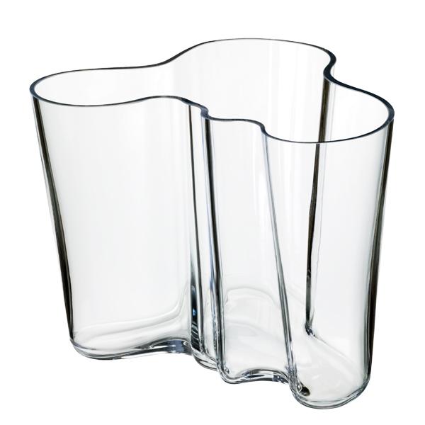 Iittala Aalto Vase 160 Mm Clear Finnish Design Shop