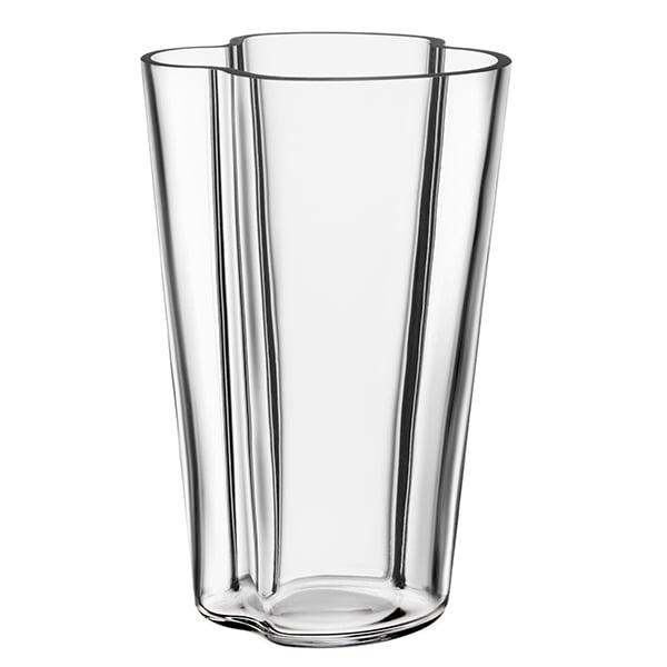Iittala Aalto Vase 220 Mm Clear Finnish Design Shop