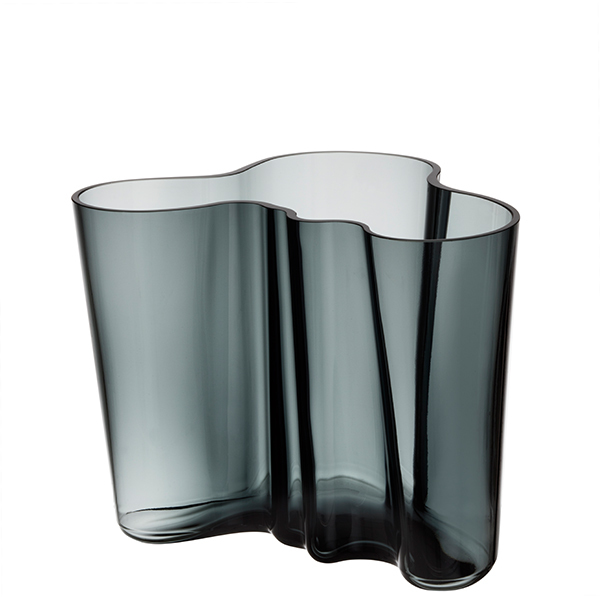 Iittala Aalto Vase 160mm Dark Grey Finnish Design Shop