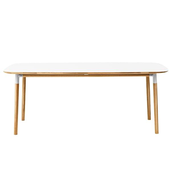Normann Copenhagen Tavolo Form 200 x 95 cm, bianco-rovere