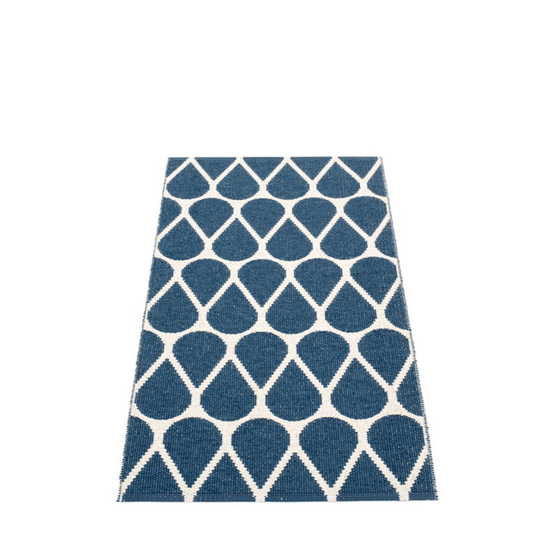 Pappelina Otis rug 70 x 140 cm, ocean blue - vanilla