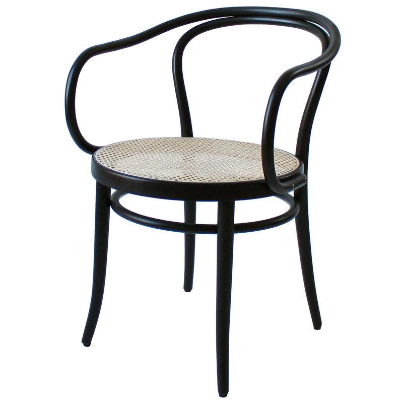 TON Armchair 30 tuoli, rottinki - musta