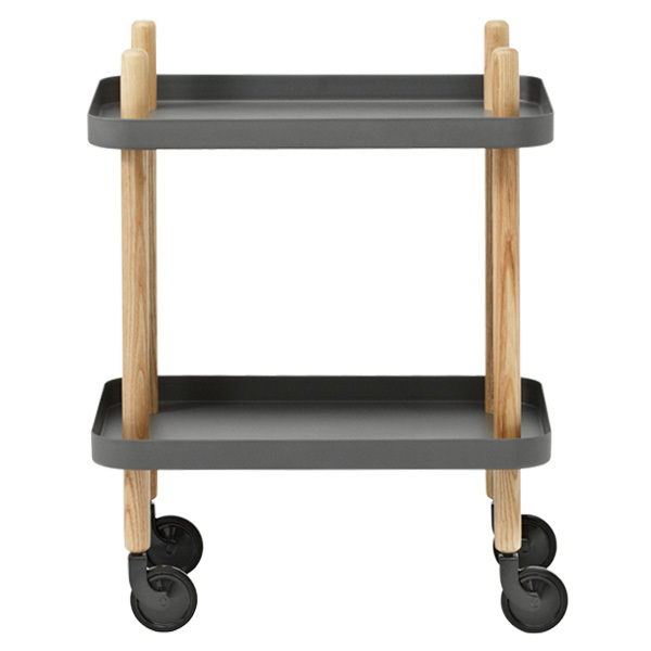 Normann Copenhagen Block table trolley, dark grey