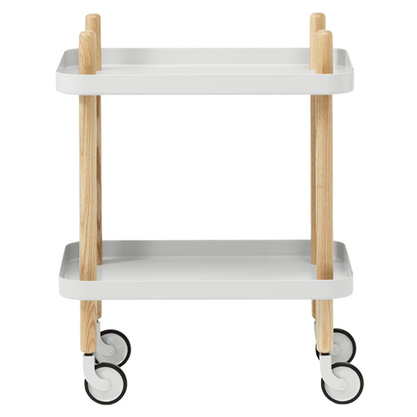 Normann Copenhagen Block table trolley, light grey